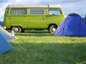 Motorhome in a campsite