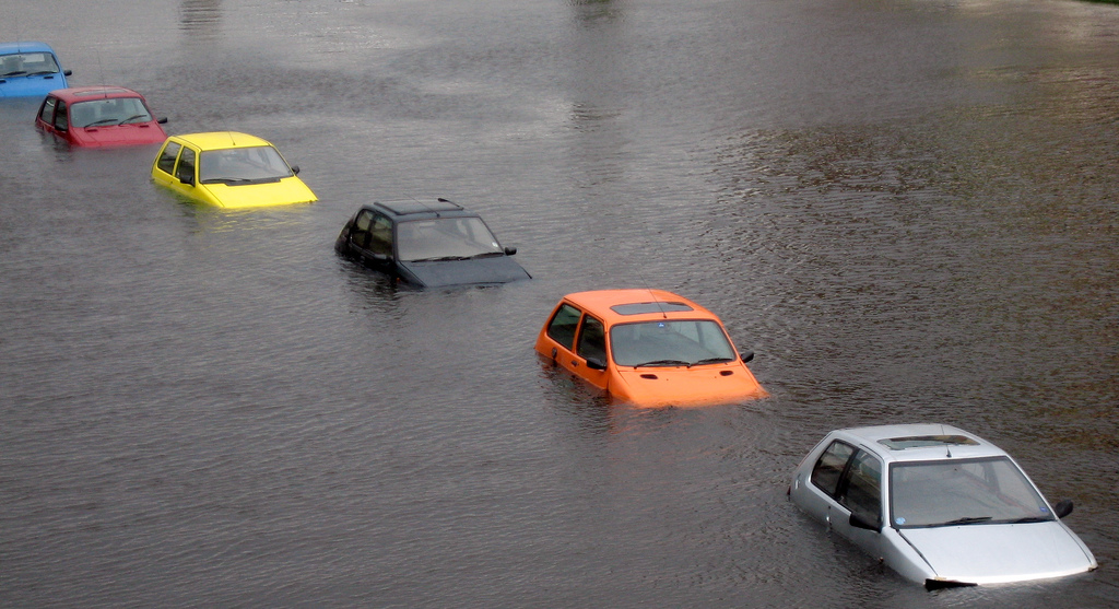 Image of cars in flood water