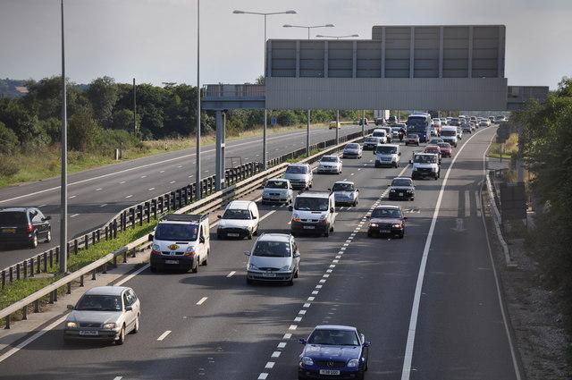 Image of Cars on Motorway