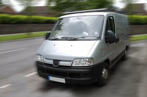 Image of van driving