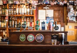 Image of beer taps