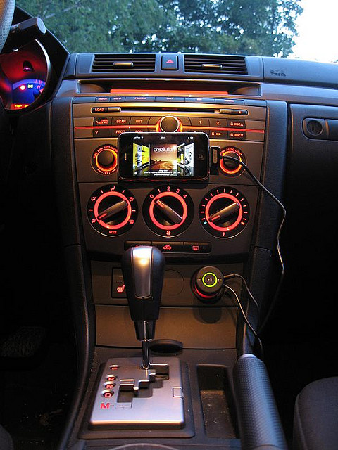 Image of Ipod in Car