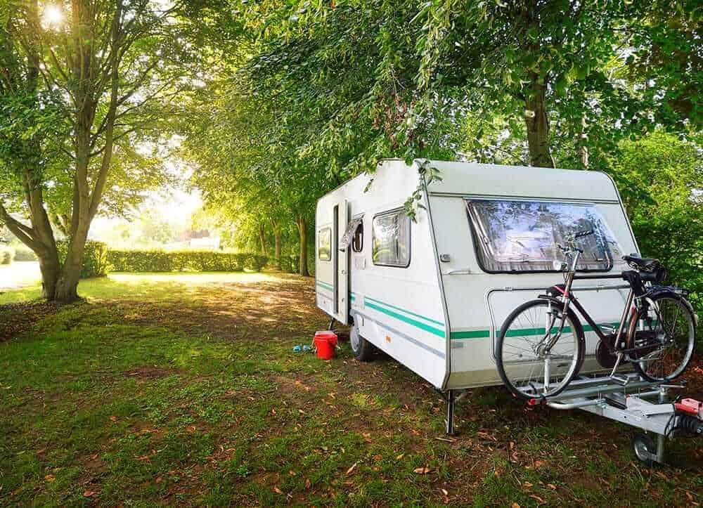 caravan in nature
