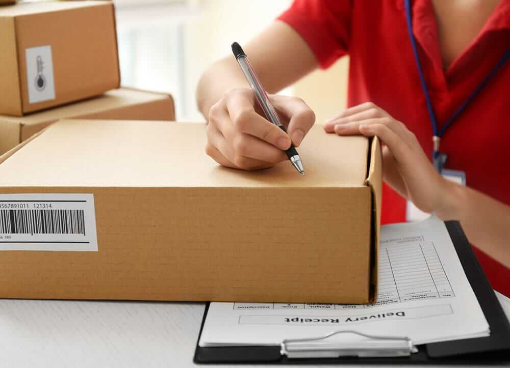 writing address on parcel