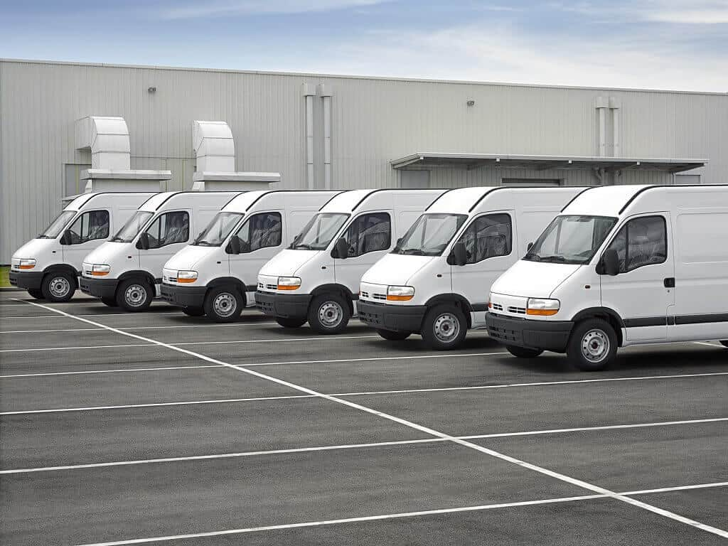white fleet vans
