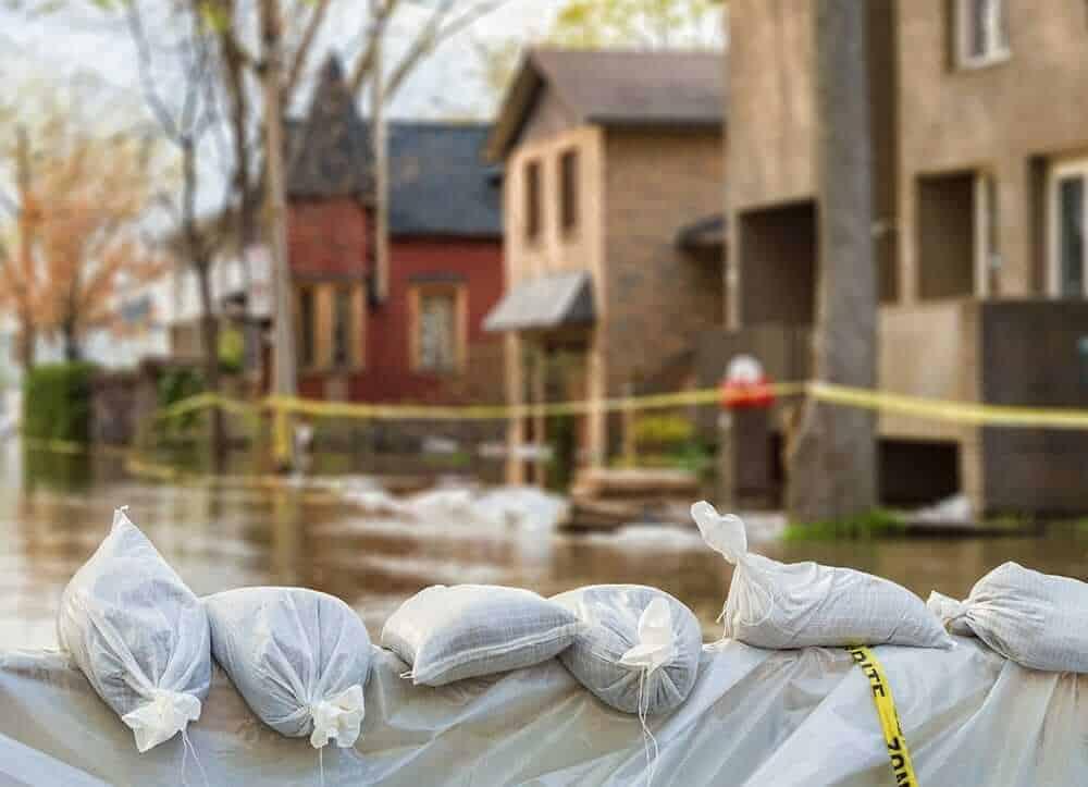 flooded neighbourhood