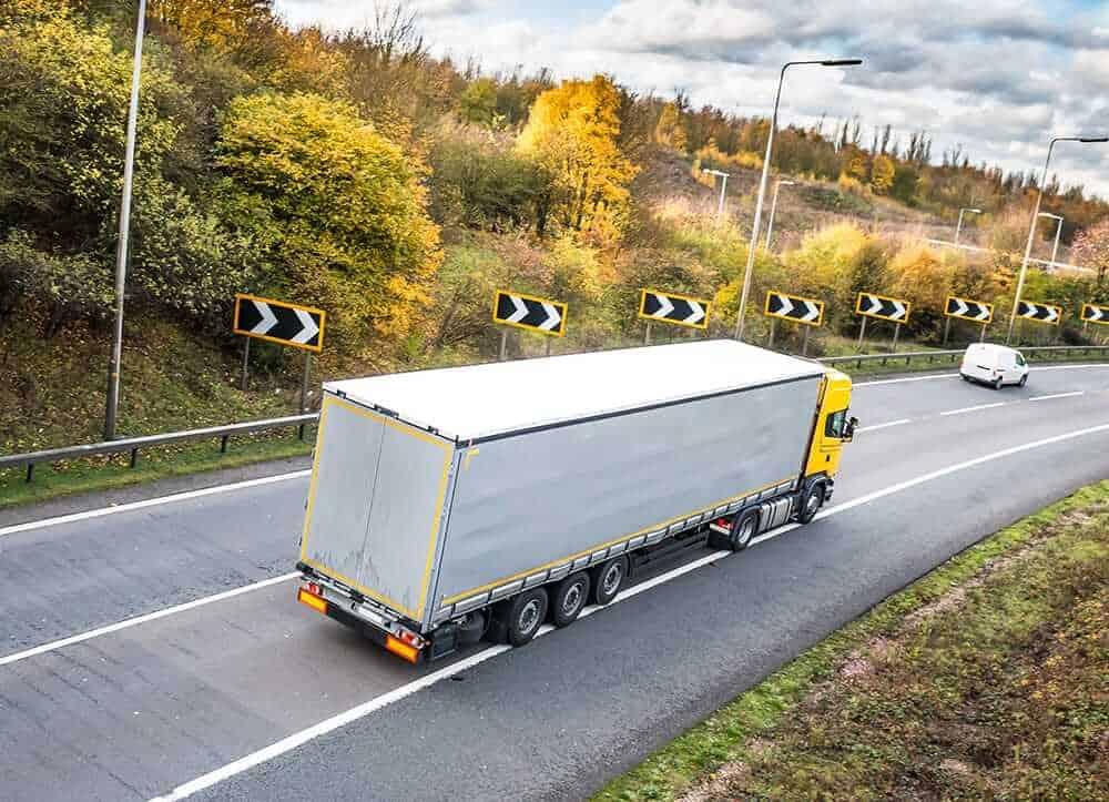 lorry on motorway UK