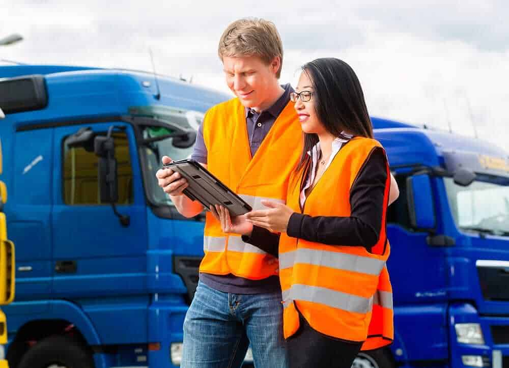people managing lorry fleet