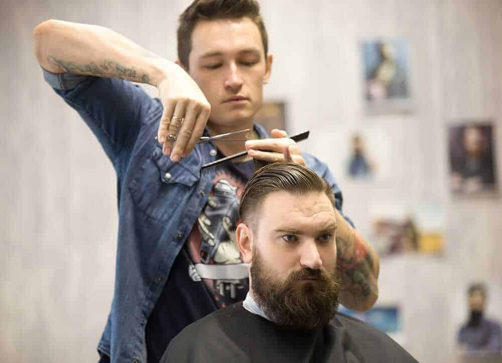 barber cuts new men haircut