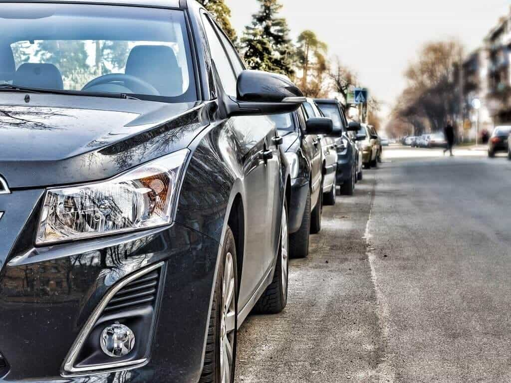 taxi fleet cars on the street