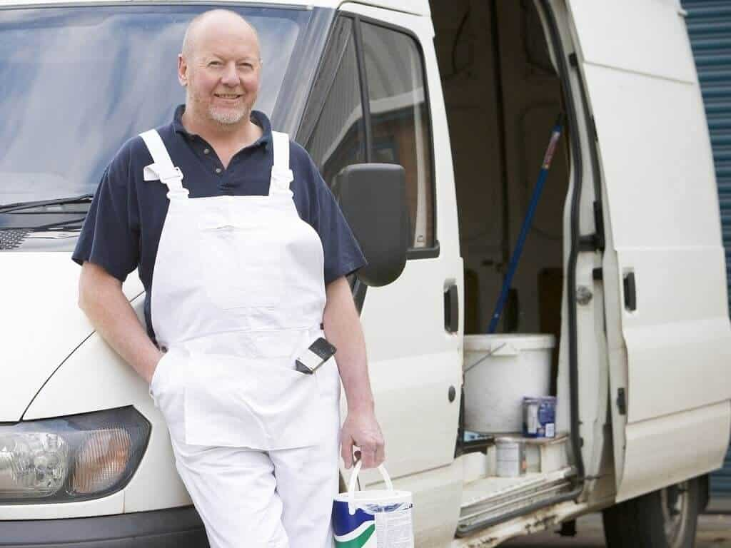White van decorator man