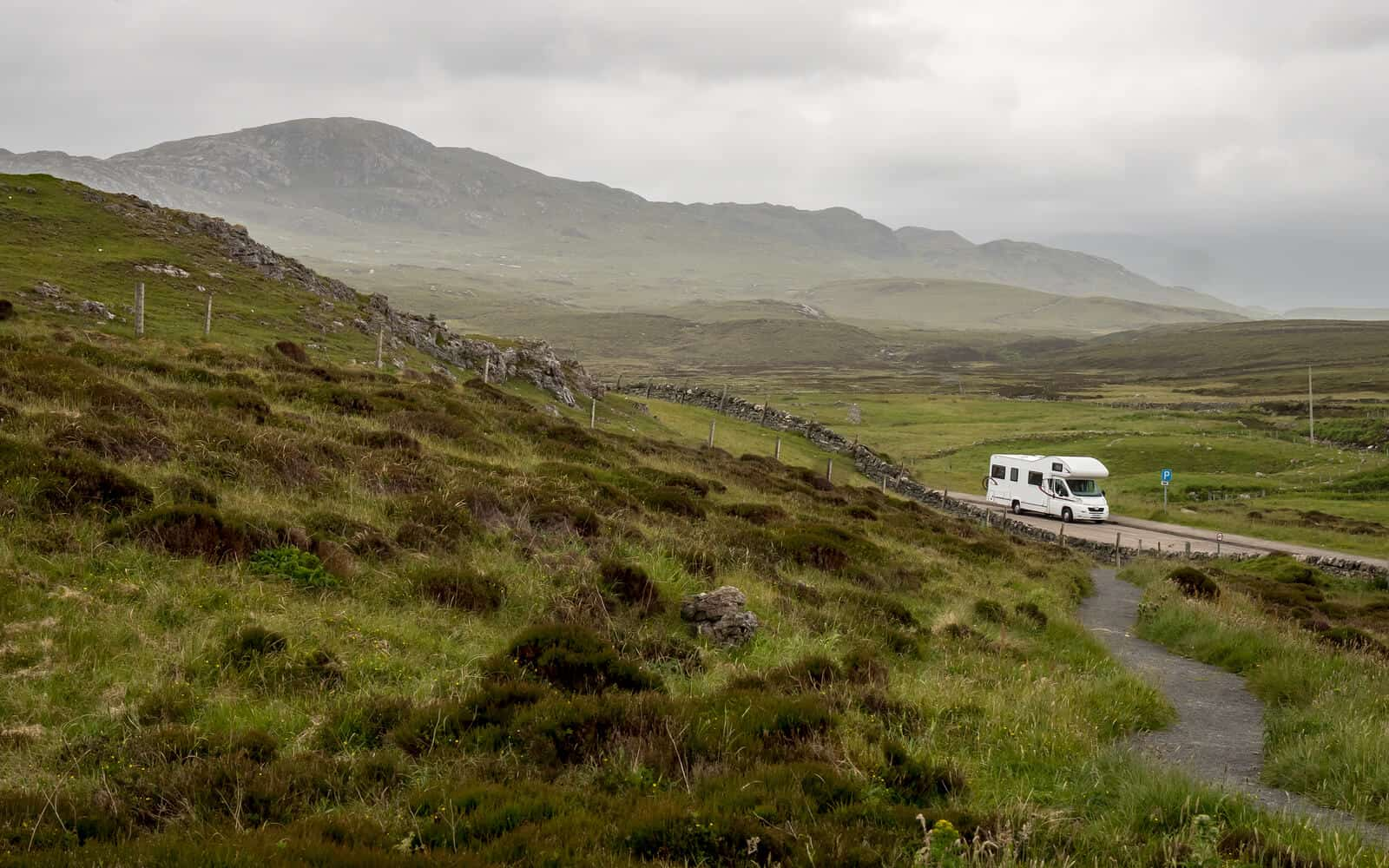 Motorhome in Scottish highlands
