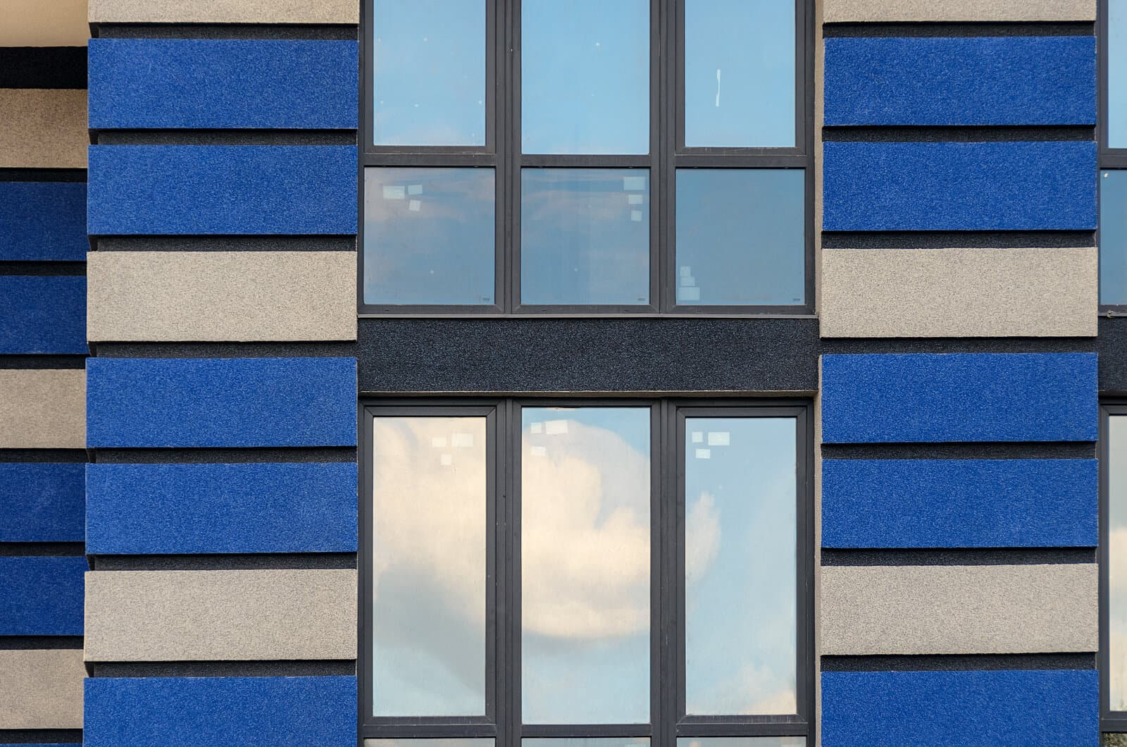 Windows on block of flats