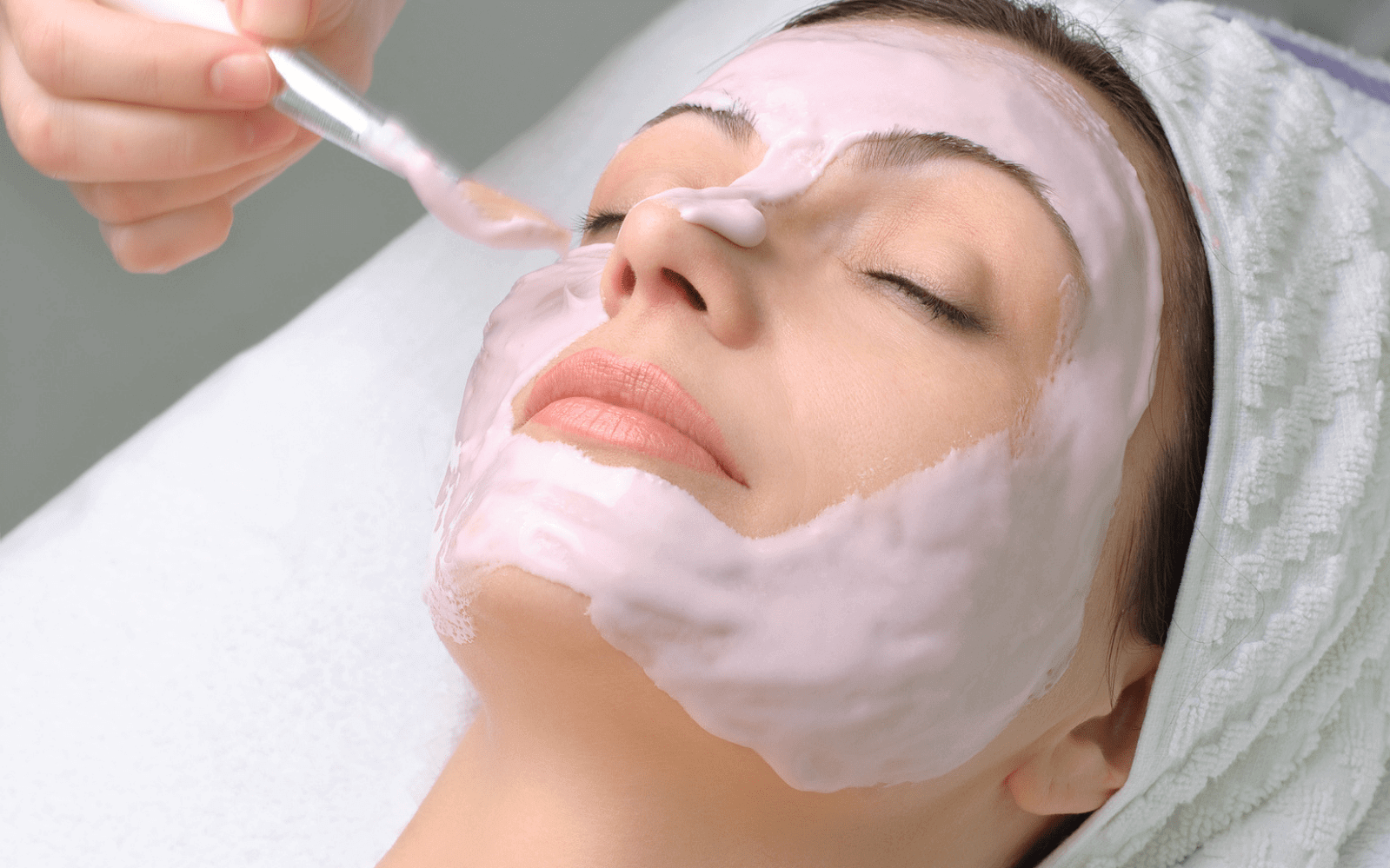 Woman getting beauty treatment