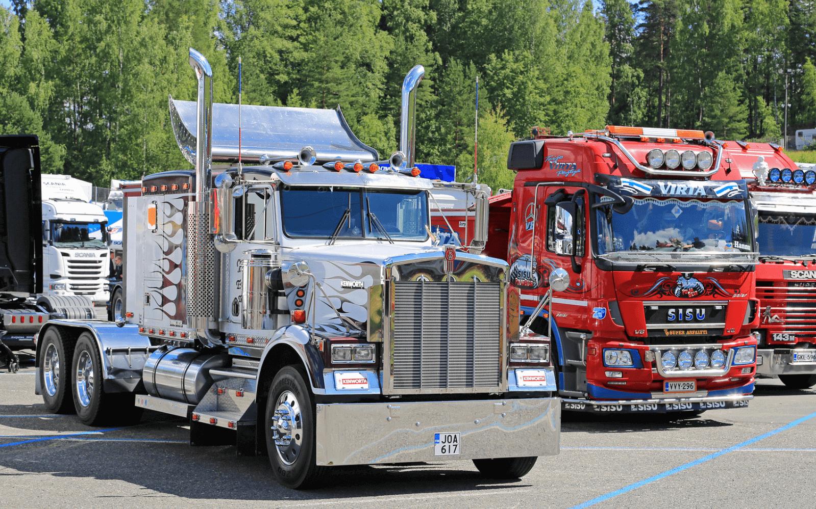 Classic trucks at show