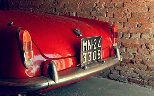 Back end of Alfa Romeo