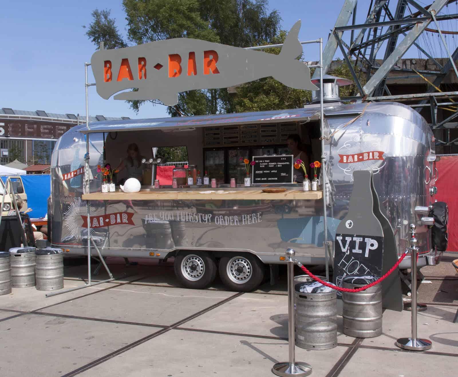 Caravan turned into food truck