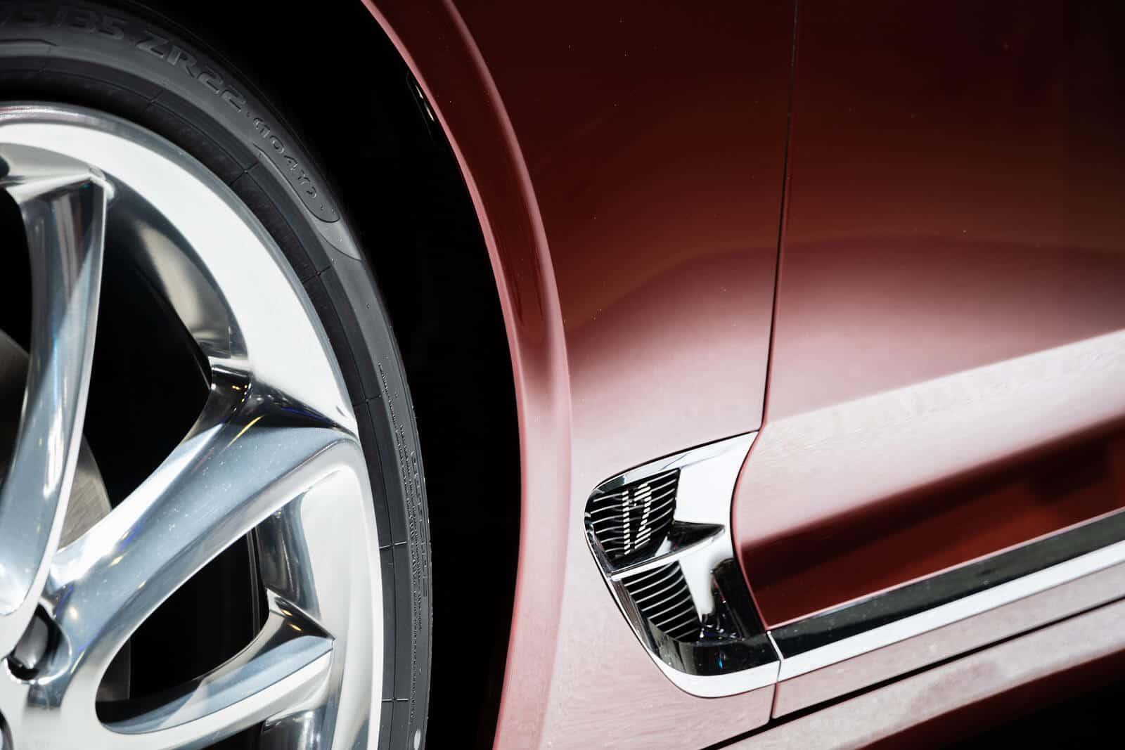 Wheel and body of Bentley