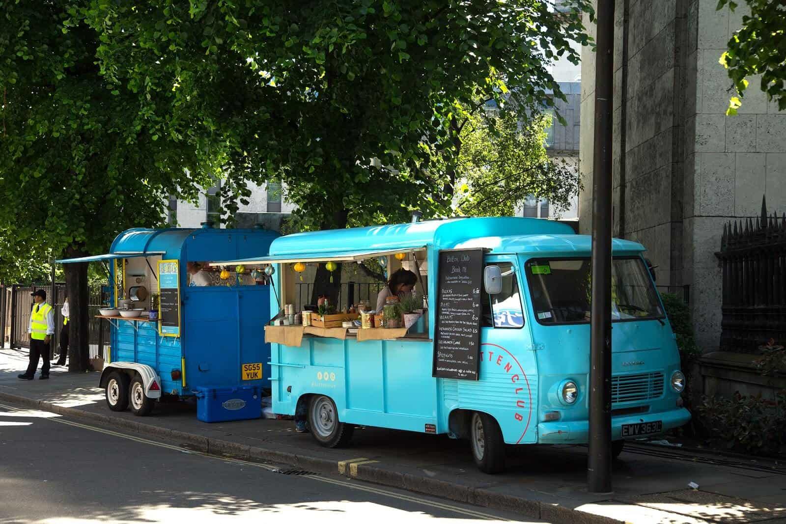 Food vans ready to serve