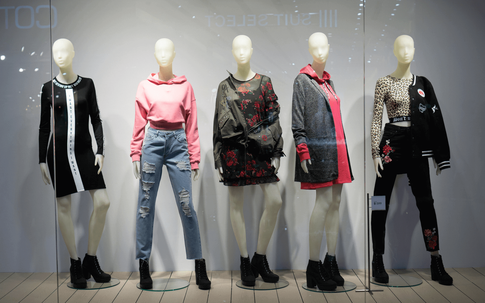 Shop window of clothing store