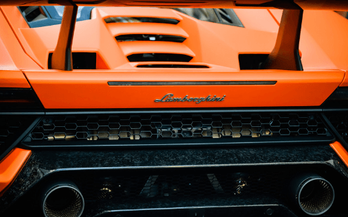Back of Lamborghini