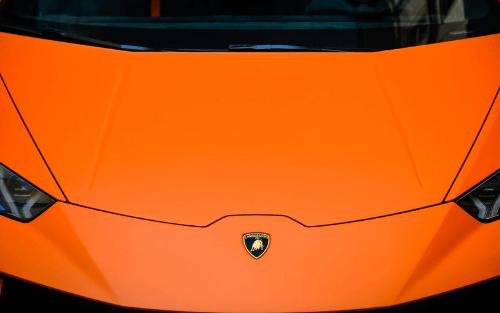 Front of Lamborghini