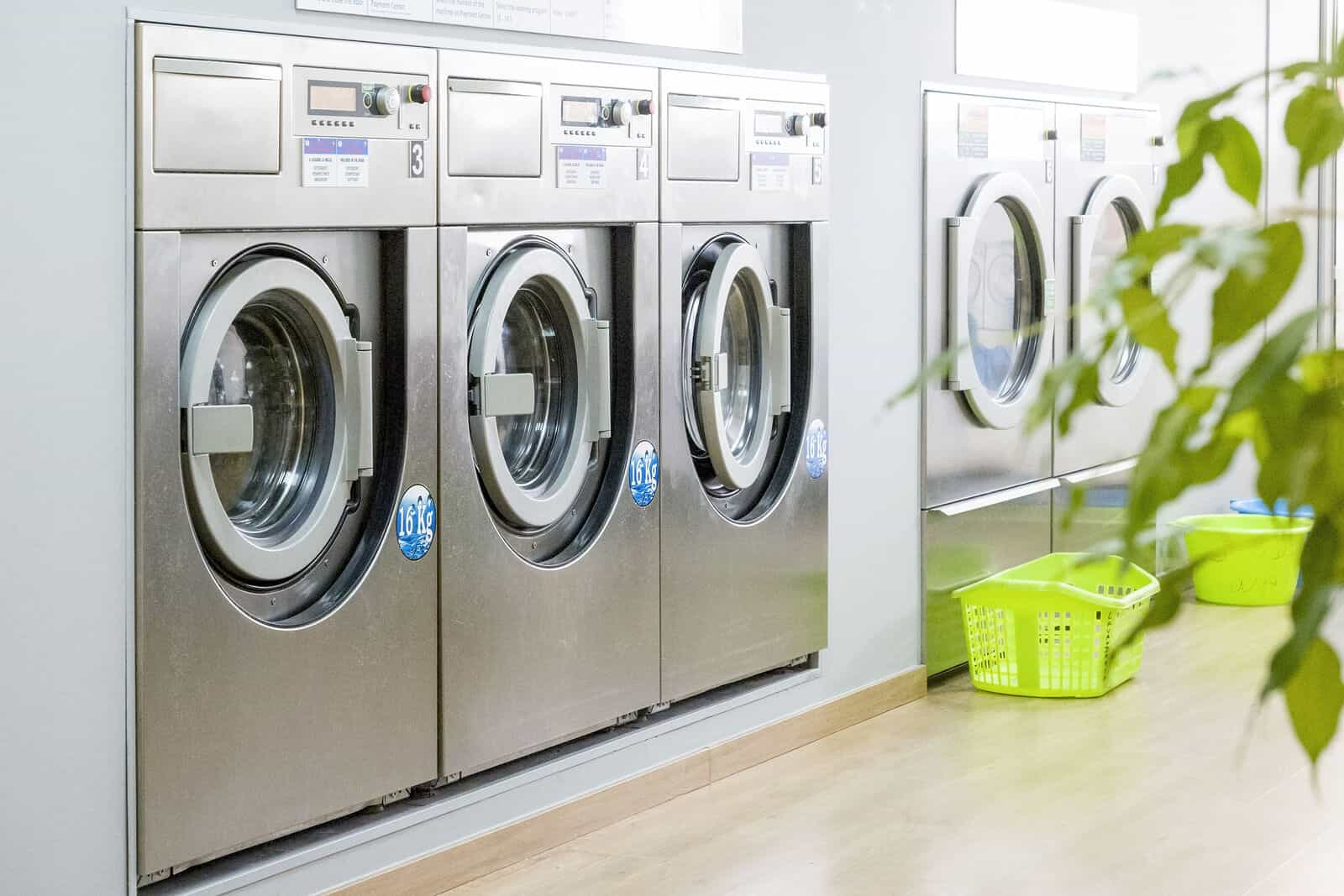 Washing machines in launderette