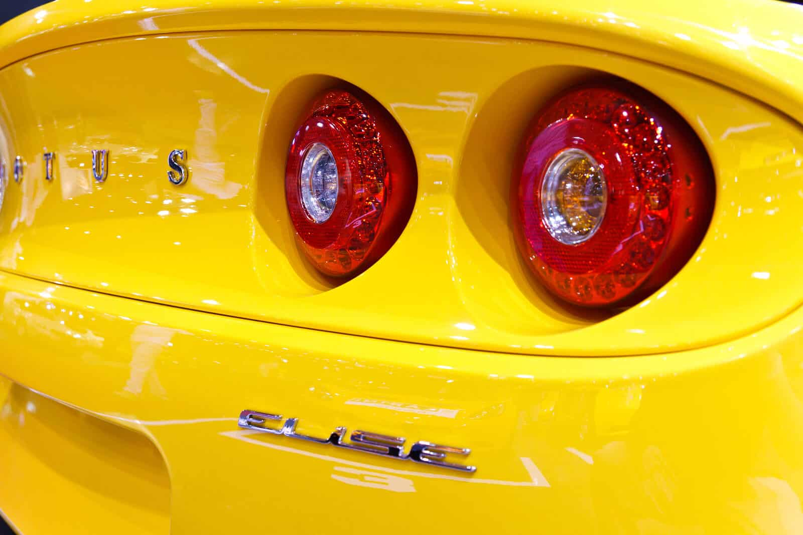 Close up of Lotus back lights