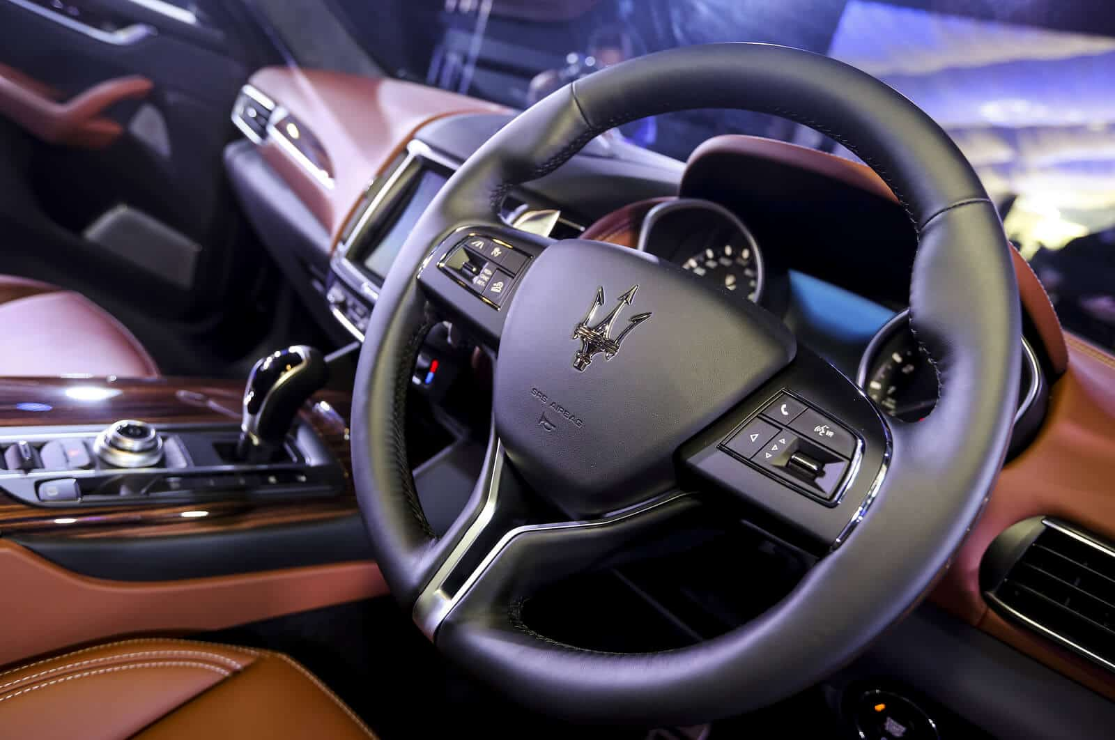 Interior of Maserati car