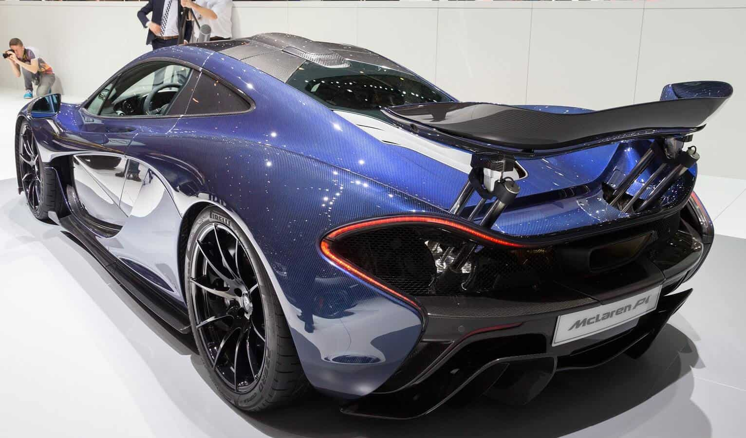 Blue McLaren at show