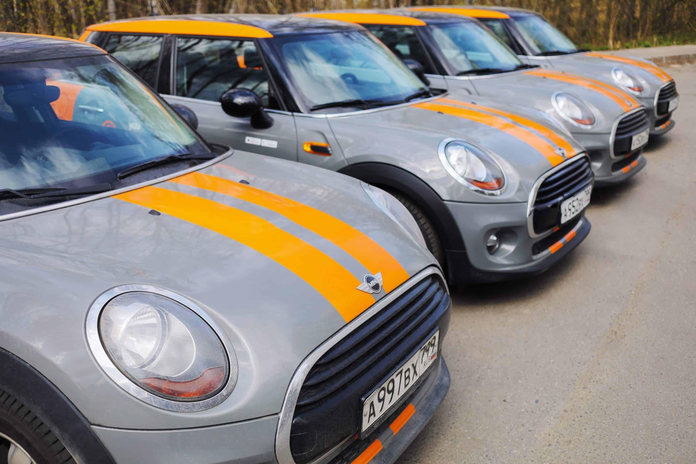 Rental fleet of cars