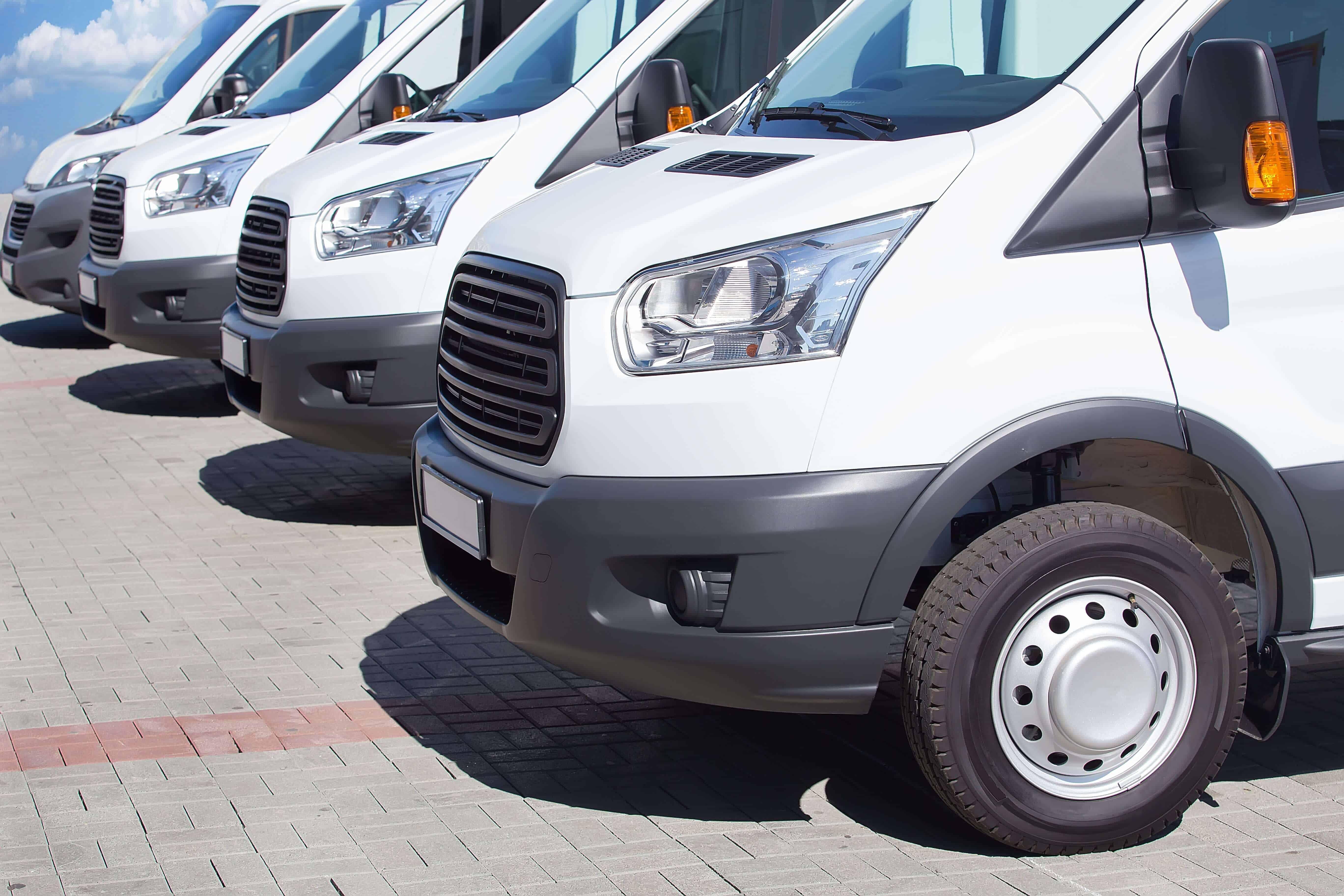White minibus fleet