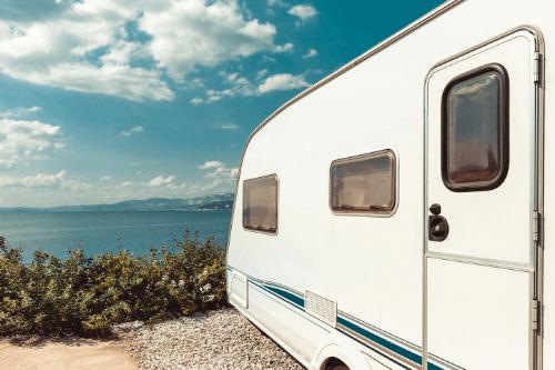 Caravan overlooking the sea