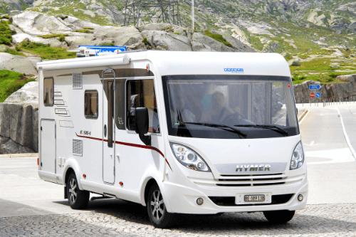 Hymer model caravan