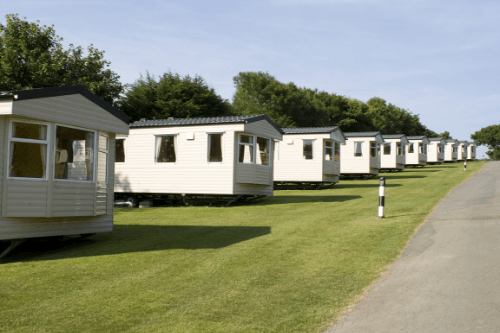 Row of parkhomes