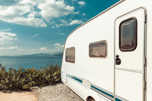 Caravan looking out to sea
