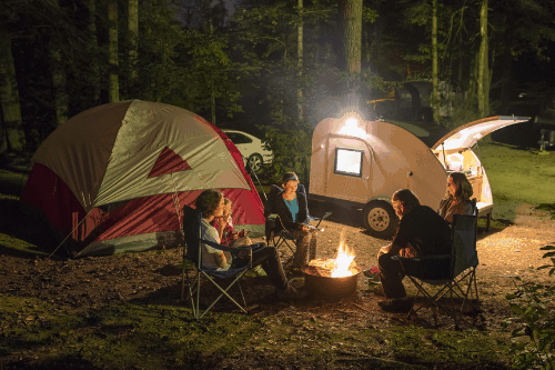 Teardrop caravan and campers