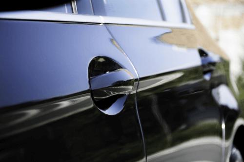 Close up of car door handle