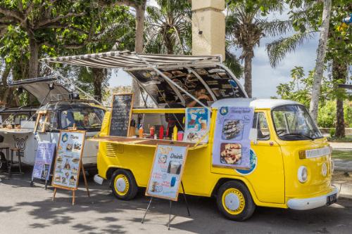 Food van on roadside
