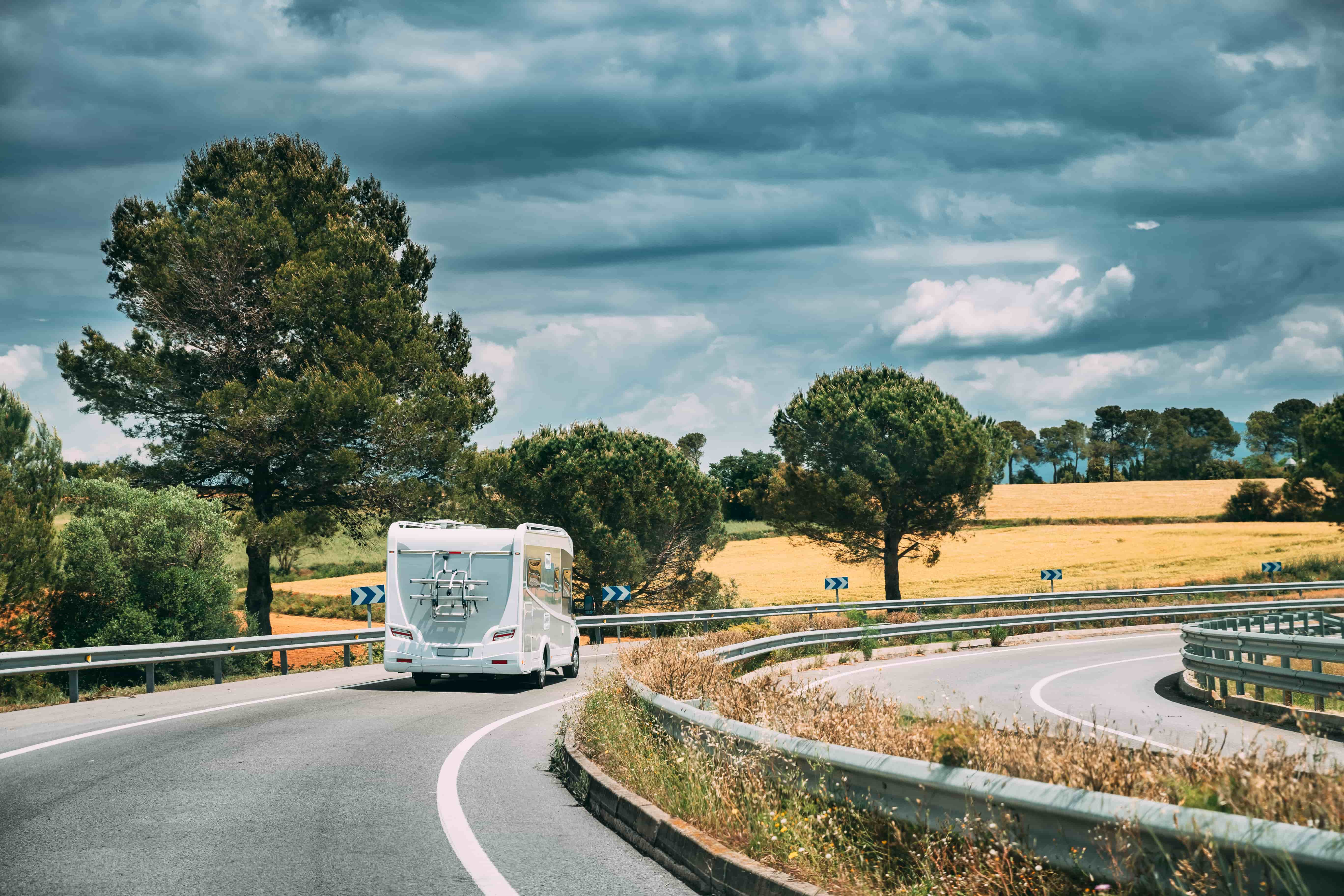 Motorhome on road
