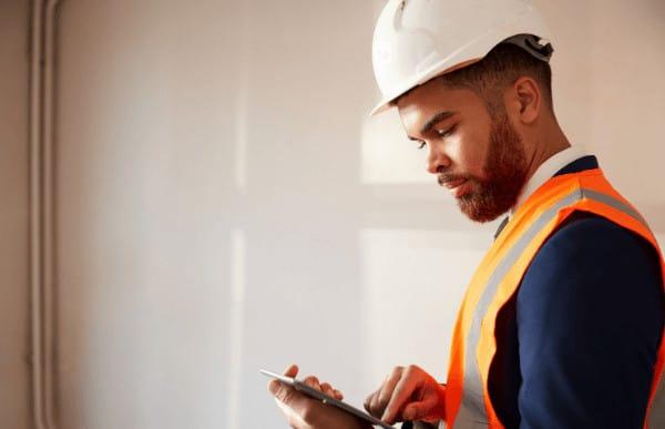Surveyor logging info on tablet