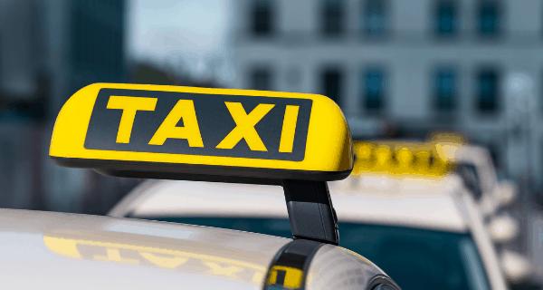 Lit taxi sign