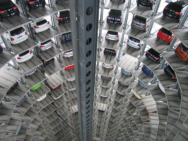 Image of Cars in Warehouse